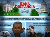 """CARICATURA: """"SANA DISTANCIA"""" POR: RICARDO CALDERÓN"""