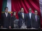 SILVANO AUREOLES PROTESTA COMO NUEVO PRESIDENTE DE LA CÁMARA DE DIPUTADOS