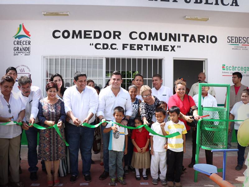 Inaugura Sedesol Comedores Comunitarios En Esc Rcega